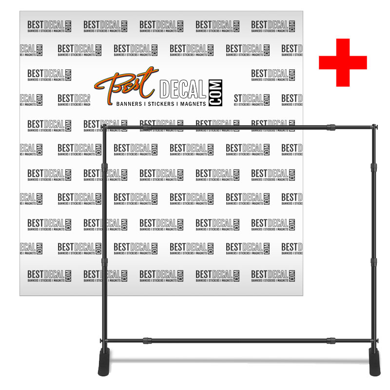 8' x 8' Step and Repeat Banner with Stand