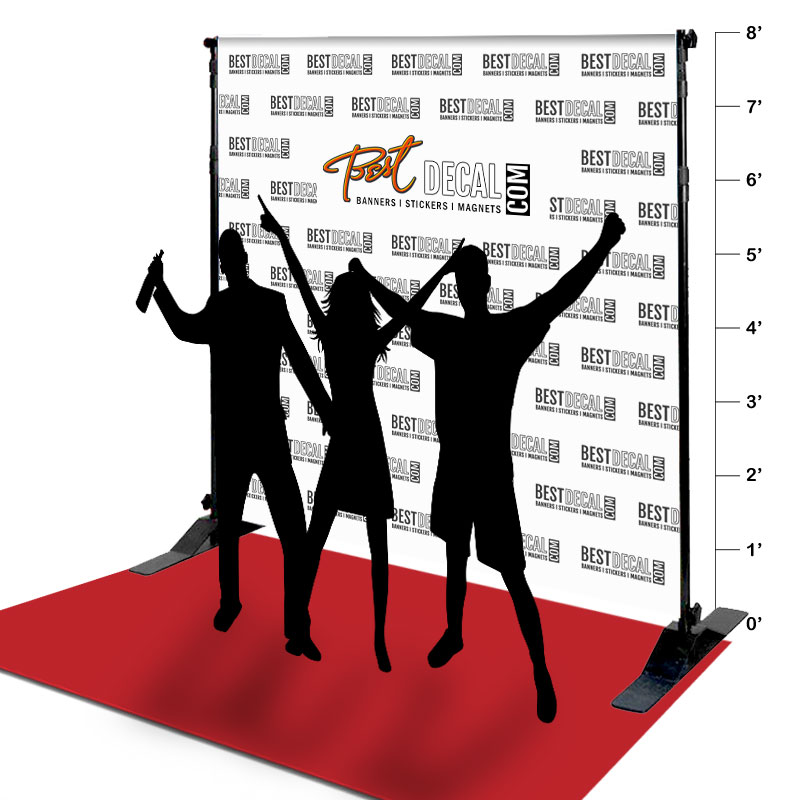 8' x 8' Fabric Step and Repeat Banner